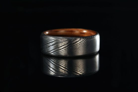8mm Blue Opal Rings Mens Wedding Band Tungsten Ring