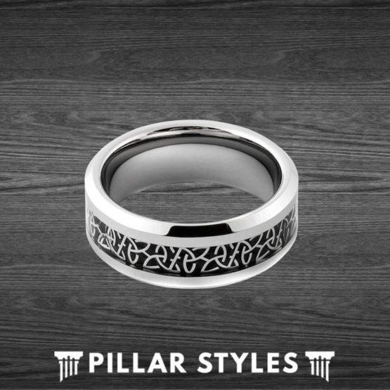 4mm & 6mm Celtic Knot Ring Irish Wedding Band Womens Ring