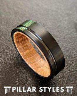 6mm Whiskey Barrel Ring Mens Wedding Band