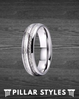8mm & 6mm Meteorite Ring Couples Ring Set Wedding Bands