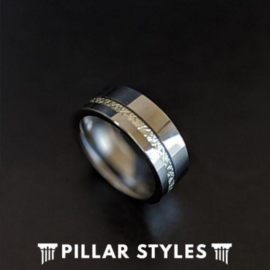 Tungsten Ring Meteorite Wedding Bands