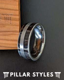 Unique Mens Wedding Band Ebony Wood Ring