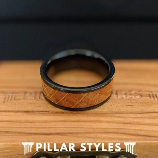 Whiskey Barrel Ring Tungsten Wedding Band